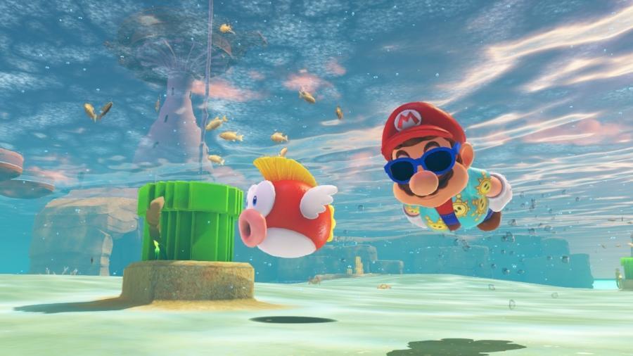 Super Mario Odyssey, de Nintendo Switch, é um exemplo de game sem tradução para o português brasileiro - Divulgação/Nintendo