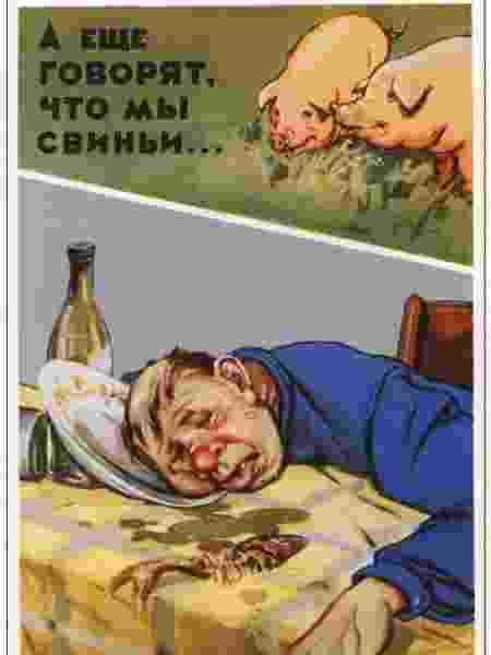 Cartazes soviéticos antiálcool 02 - Reprodução - Reprodução