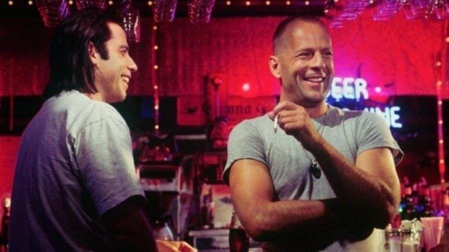 Bruce Willis e John Travolta no filme Pulp Fiction - Reprodução