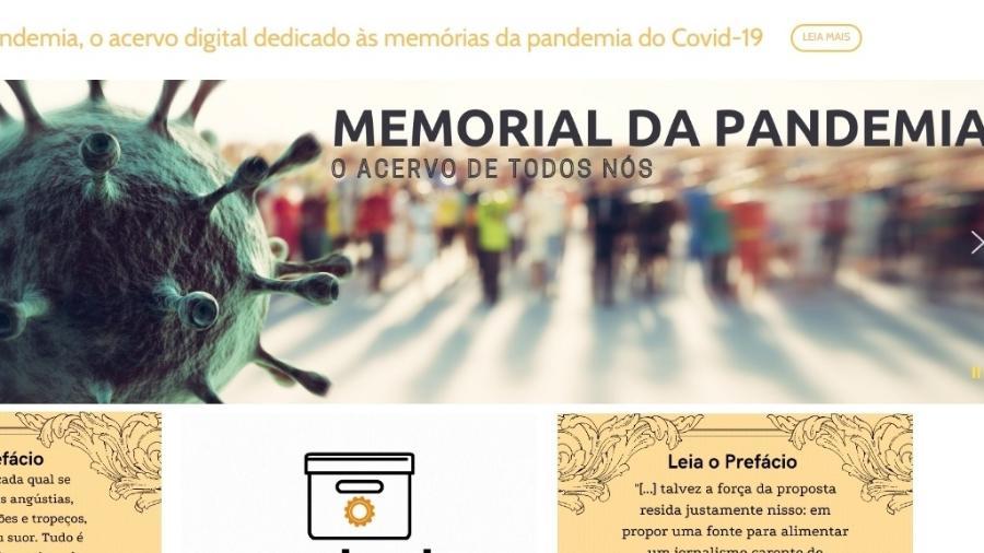 Acervo armazena histórias para registrar como a vida no Brasil foi impactada pelo coronavírus - Reprodução