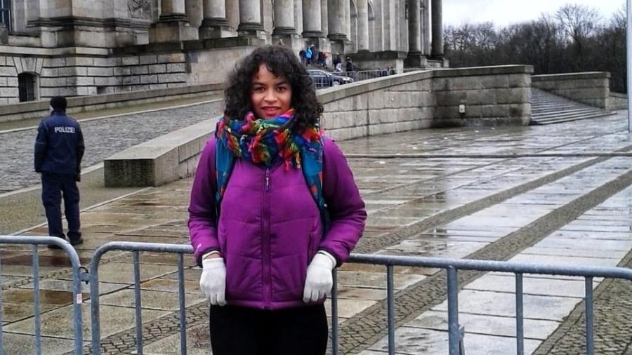 Cláudia Vieira, que sofreu com olhares tortos em Berlim - Arquivo pessoal