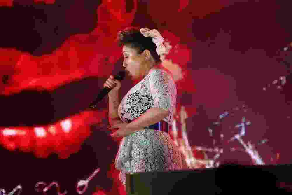 27.set.2015 - Maria Rita se apresenta com outros artistas na Homenagem aos 450 anos do Rio de Janeiro no Rock in Rio 2015 - Felipe Assumpção/AgNews