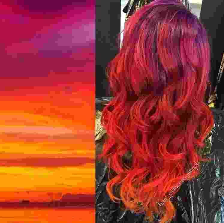 Sunset hair - Reprodução/Instagram/@hair_princess_steph