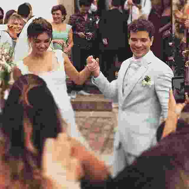 6.dez.2015 - Hugo Gloss registra os noivos Sophie Charlotte e Daniel de Oliveira em seu Instagram - Hugo Gloss/Instagram