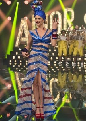 """Fernanda Lima se fantasia de Carmem Miranda no """"Amor & Sexo"""" - Estevam Avellar/TV Globo"""