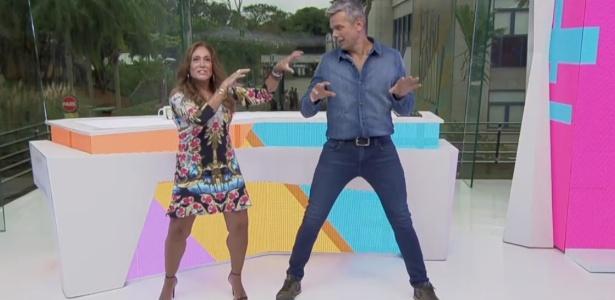 """Susana Vieira dançando """"Moonwalker"""" no estúdio do """"Vídeo Show""""; programa deve sair do ar em agosto - Reprodução/TV Globo"""