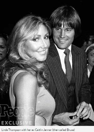 Linda Thompson na época em que era casada com Caitlyn Jenner, na época chamada de Bruce Jenner, em foto de seu livro de memórias - Reprodução/People