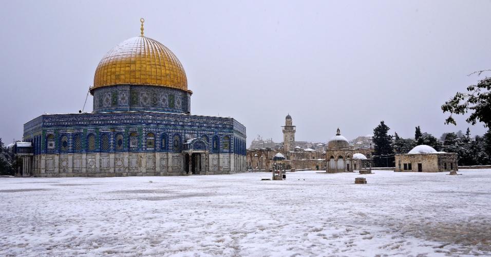 Jerusalém sob neve
