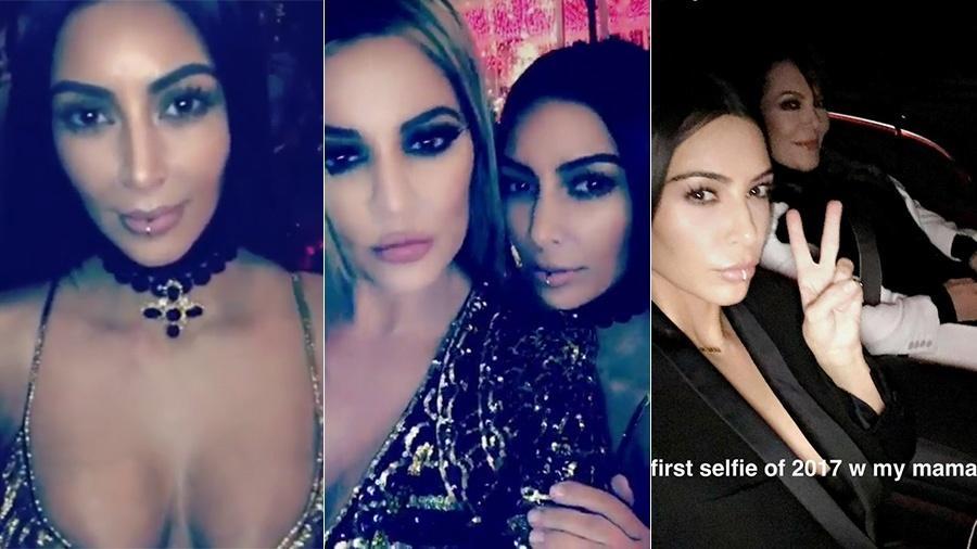 Kim Kardashian exibe o piercing no lábio inferior em seu Snapchat - Reprodução/Snapchat