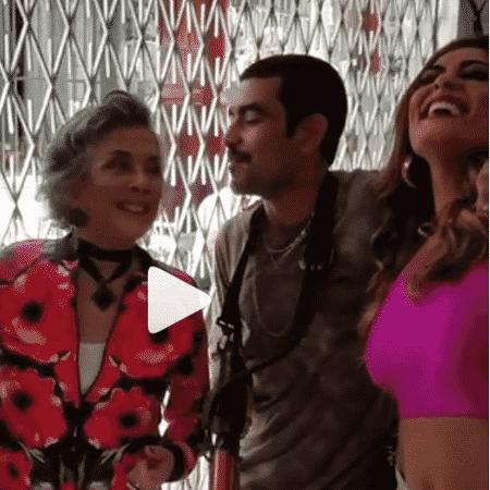 Jonathan Azevedo (Sabiá), Betty Faria (Elvira), Marcos Junqueira (Kikito) e Juliana Paes (Bibi) - Reprodução/Instagram