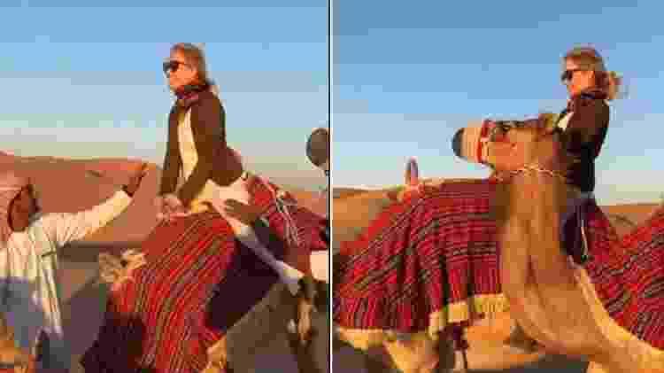Angélica em cima de camelo - Reprodução/Instagram - Reprodução/Instagram