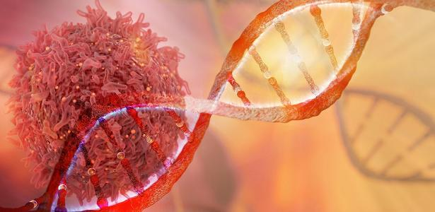 DNA e célula com câncer - iStock