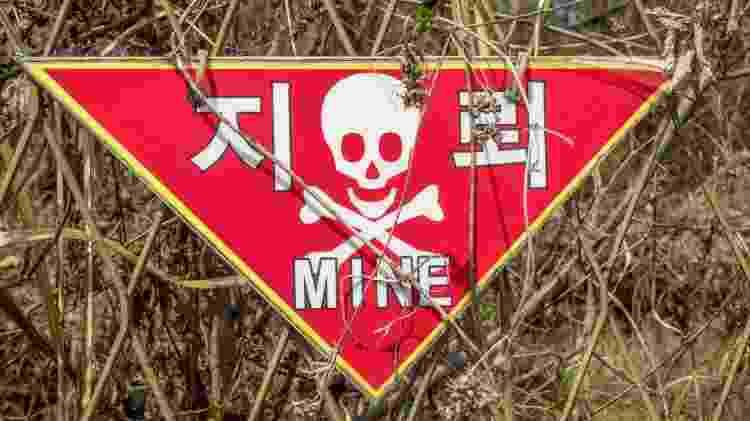 Ainda há minas terrestres na região que separa a Coreia do Sul da Coreia do Norte - Getty Images/iStockphoto - Getty Images/iStockphoto