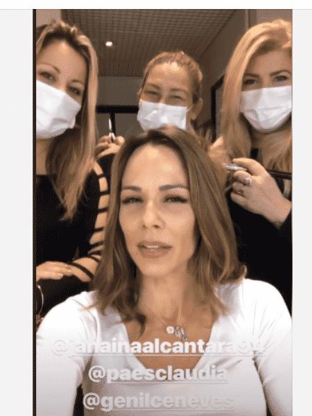 Ana Furtado mostra sua equipe de máscara - Reprodução/Instagram