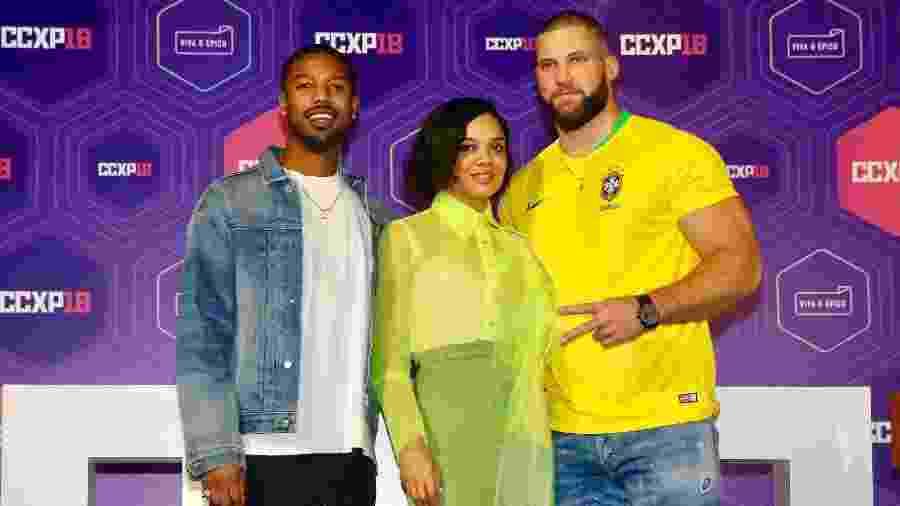 "Michael B. Jordan, Tessa Thompson e Florian Munteanu falam sobre ""Creed 2"" em SP - Manuela Scarpa/Brazil News"