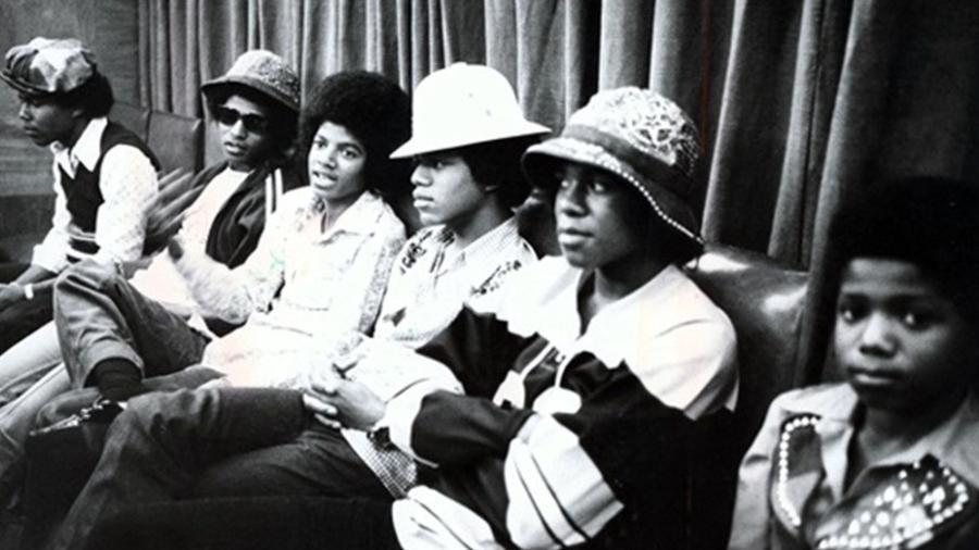 Jackson 5, na época já um sexto, nos estúdios da TV Tupi em São Paulo - Reprodução