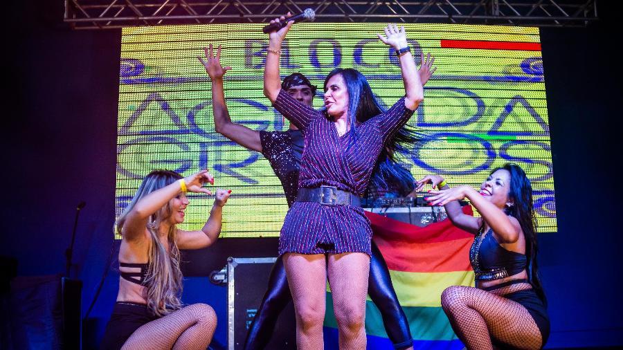 Gretchen se apresenta no festival Agrada Gregos, prévia do famoso bloco de Carnaval de São Paulo - Edson Lopes Jr./UOL