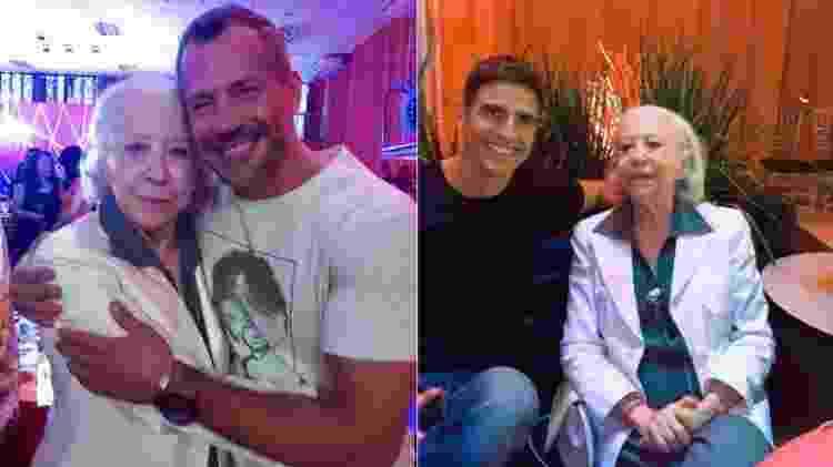Fernanda Montenegro com Malvino Salvador e Reynaldo Gianecchini - Reprodução/Instagram