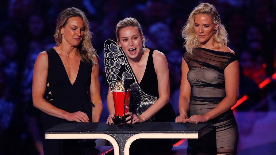 Brie Larson fatura prêmio de melhor cena de luta no MTV Movie & TV Awards -  REUTERS/Mike Blake
