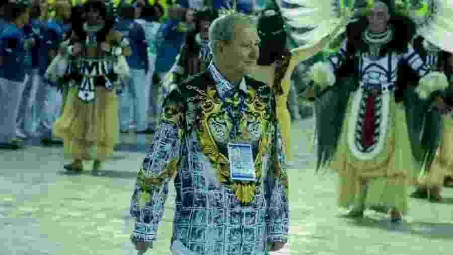 Luiz Pacheco Drumond durante desfile da Imperatriz - Divulgação / João Paulo Corrêa
