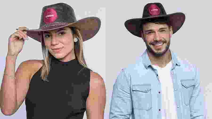Lucas e Hariany disputam a preferência do público de A Fazenda 2019 - Reprodução/RecordTV