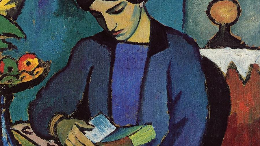 Blue Girl Reading - August Macke
