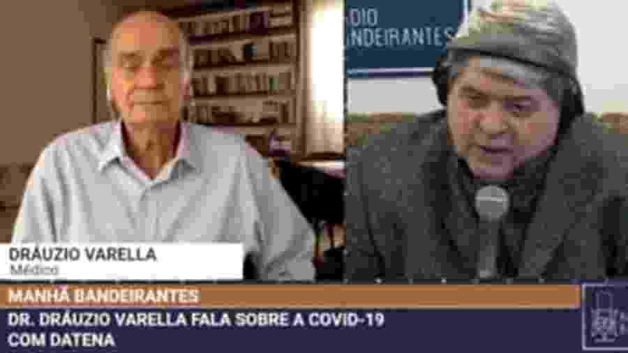 Drauzio Varella e Datena - Reprodução/Band