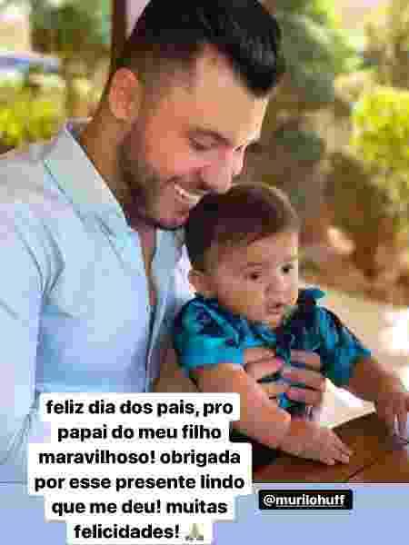 Marília Mendonça homenageou Murilo Huff, pai de seu filho, no Dia dos Pais - Reprodução/Instagram - Reprodução/Instagram