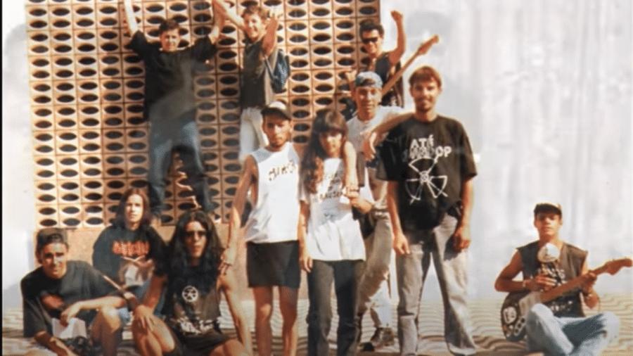 G.A.L.O.: integrantes das bandas Menstruation, Restos e Denúncia - Arquivo Pessoal