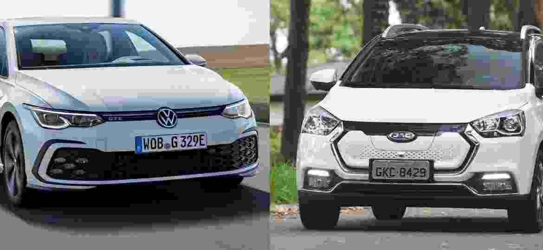 Joint-venture entre JAC e VW atua na China desde 2017 - Arte/UOL