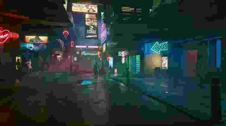 Cyberpunk 2077 Neon - Reprodução/GameHall - Reprodução/GameHall