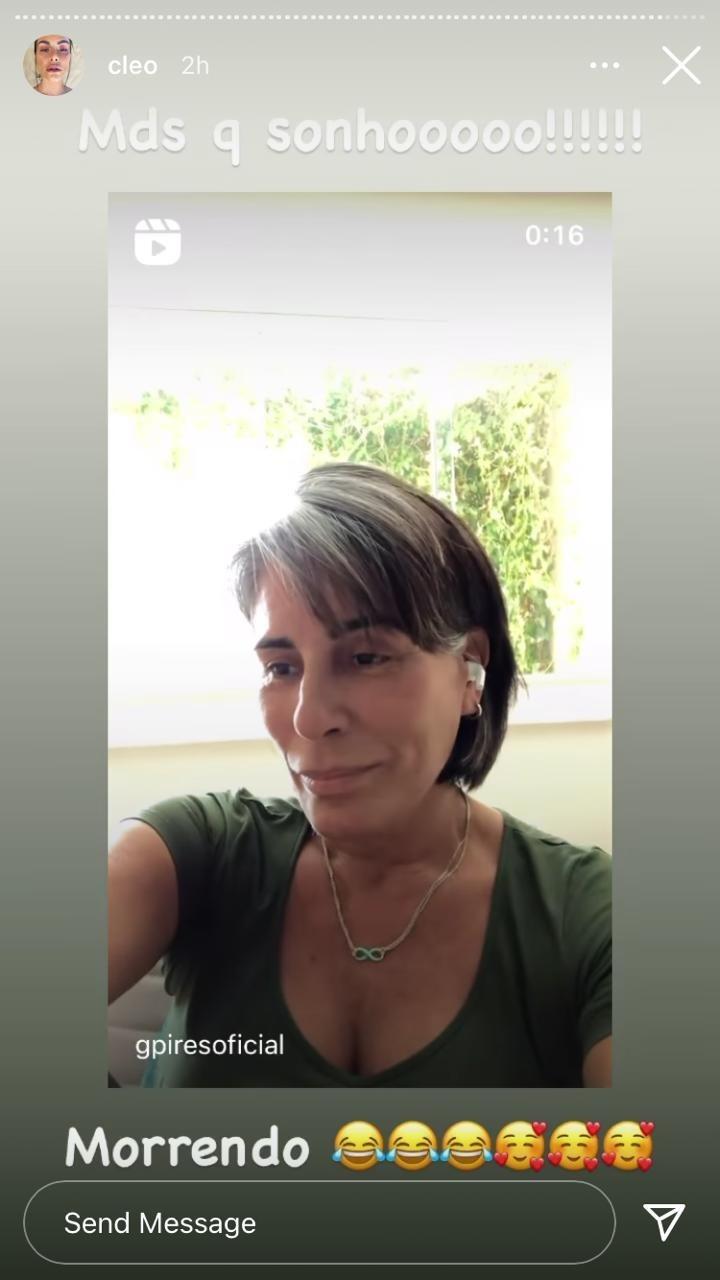 Gloria Pires faz música sobre não ser mãe de Fiuk e Cleo responde: 'Sonho'