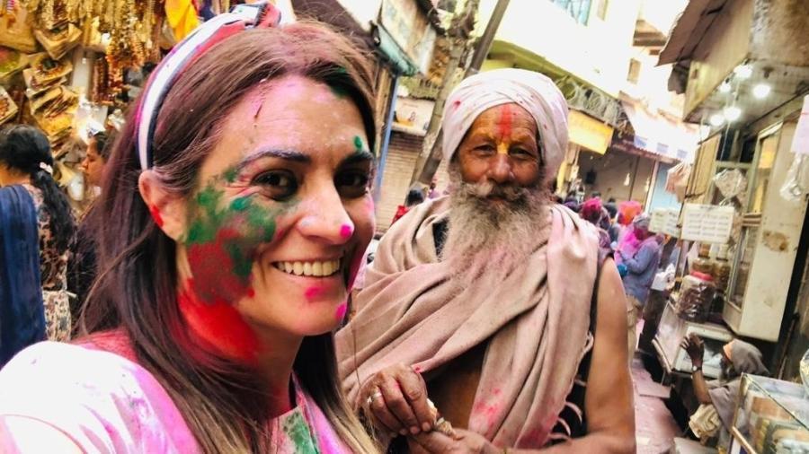 Silvinha Mantovani escolheu a Índia como o seu 40º destino  - Arquivo pessoal