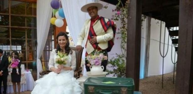 Meyer e Herrera se casaram há um ano após se conhecer no Facebook - Reprodução/Daniel Herrera