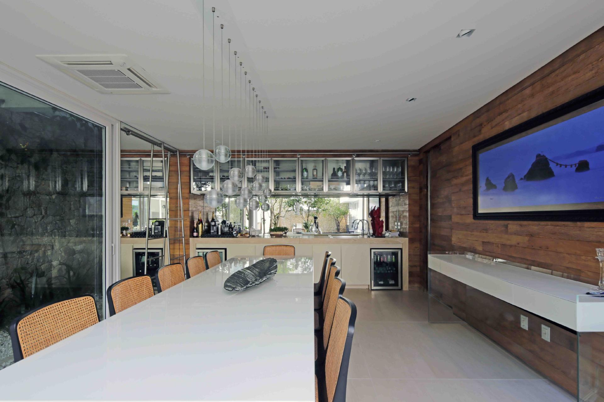 Salas de jantar ideias para decorar o ambiente bol for Sala de estar gourmet