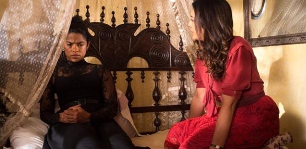 Luzia é consolada por Beatriz após se divorciar de Santo - Estevam Avellar/TV Globo