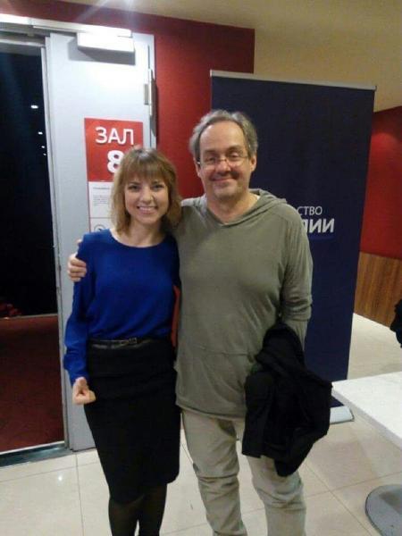 Marinka encontrou o ator Daniel Dantas em Moscou - Imagem/Arquivo pessoal