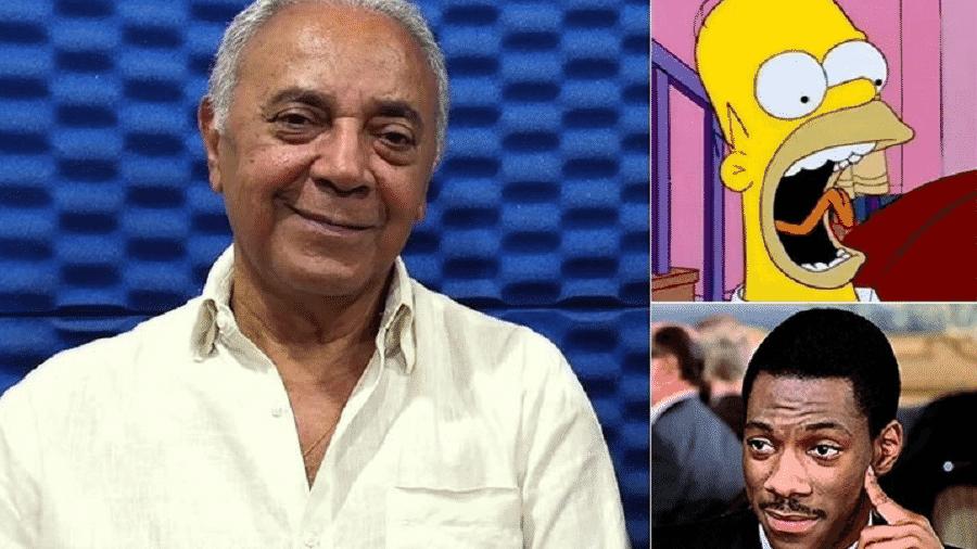 """Waldyr Sant""""anna fez a voz de Eddie Murphy em grandes clássicos dublados e é primeiro dublador de Homer Simpsons no Brasil - Reprodução"""