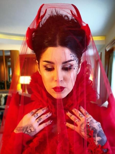 Kat Von D de noiva - Reprodução/Instagram