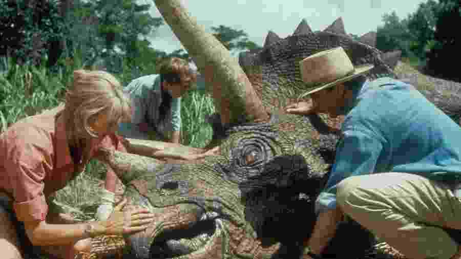 """Cena do filme """"Jurassic Park: O Parque dos Dinossauros"""" - Reprodução"""