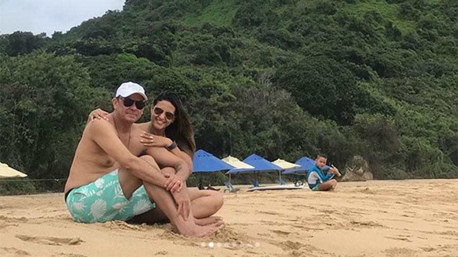 Frank Aguiar e Caroline Santos curtem lua de mel em Noronha - Reprodução/Instagram