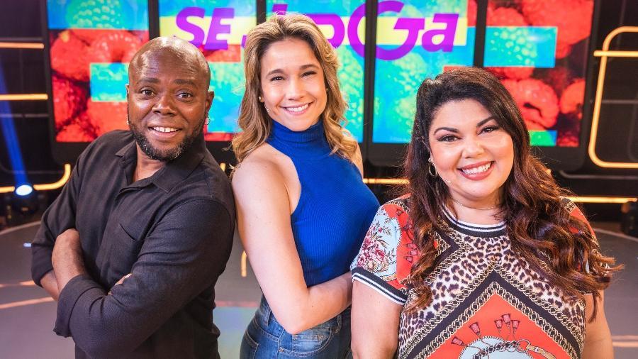 Érico Brás, Fernanda Gentil e Fabiana Karla são os apresentadores do Se Joga - Victor Pollak/Globo