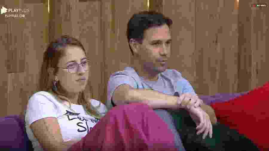 Viny conversa com Bifão e Andréa na sala da sede - Reprodução/PlayPlus