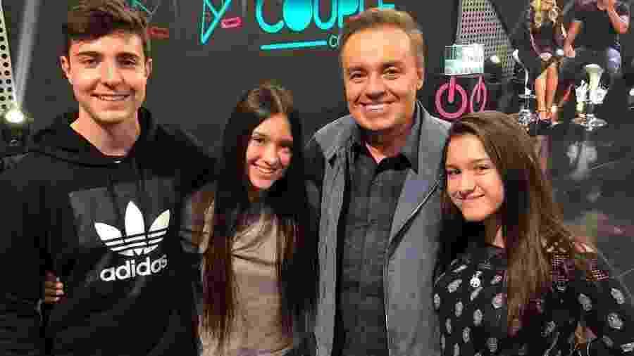 Gugu com os filhos, João Augusto, Marina e Sofia Liberato - Reprodução/ Instagram