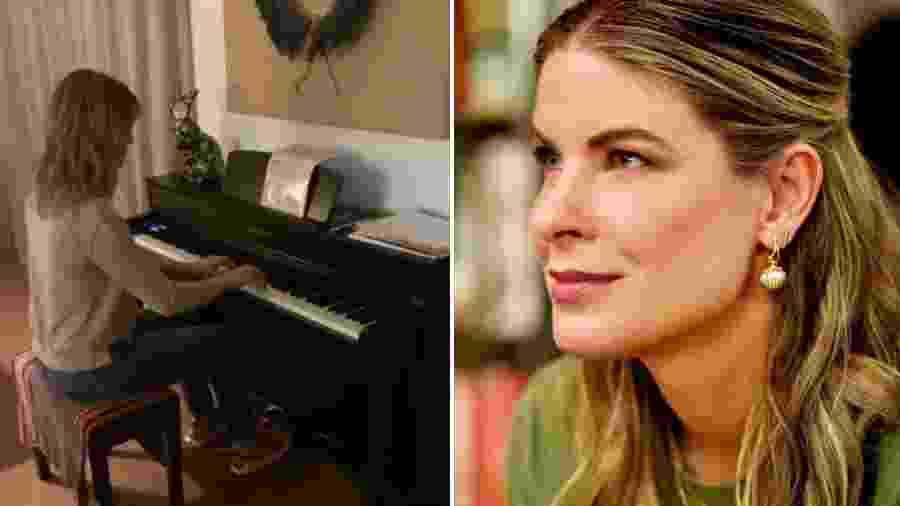 Rita Lobo no piano: talento além das panelas - Reprodução/ Instagram