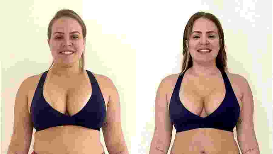 Ex-BBB Paula Leite perde quase 10 quilos e mostra seu antes e depois  - Reprodução/Instagram