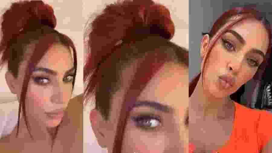 Kim Kardashian mostra seu novo visual ruivo - Reprodução/Instagram