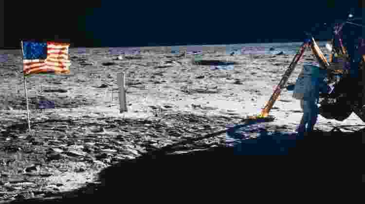 Normalmente, a frequência cardíaca de Neil Armstrong não passava de 70 batimentos por minuto – mas quando estava prestes a pousar na Lua, foi diferente -  Science & Society Picture Library/Getty Images -  Science & Society Picture Library/Getty Images