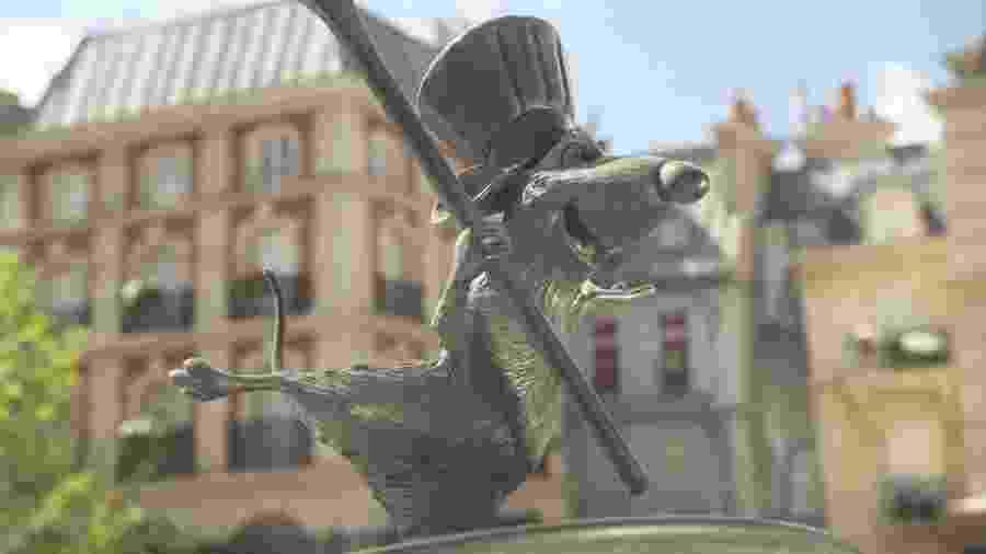 O contagiante ratinho Ratatouille: tema de brinquedo no parque em Paris - Divulgação