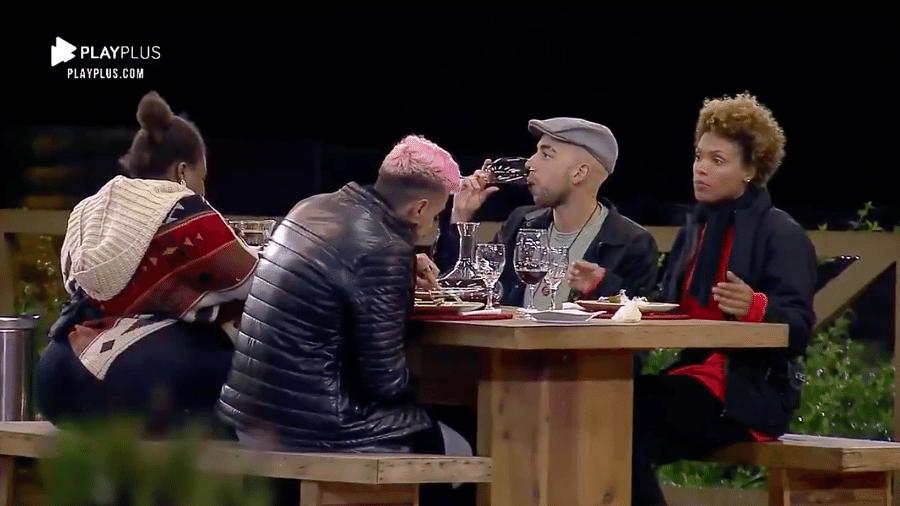 A Fazenda 2020: Jojo Todynho, Lipe Ribeiro, Lucas Maciel e Lidi Lisboa vencem dinâmica e ganham jantar italiano - Reprodução/RecordTV